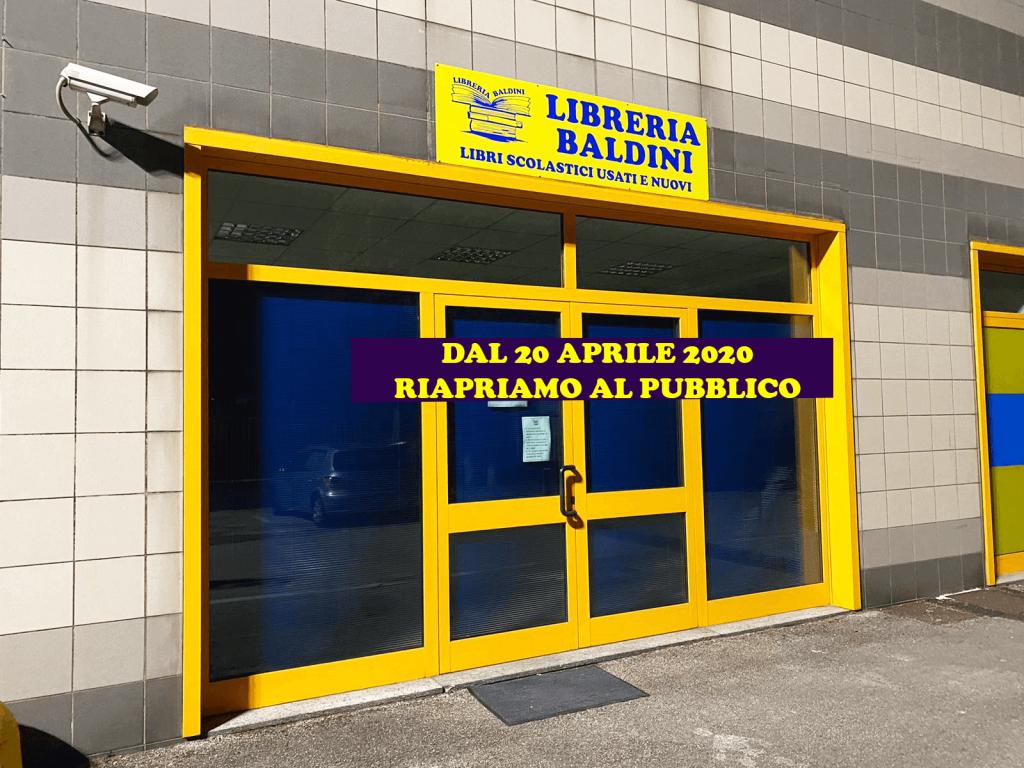 esterni libreria baldini ancona riapertura 20 aprile 2020
